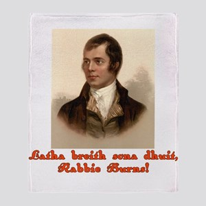 Happy Birthday in Scottish Gaelic Throw Blanket