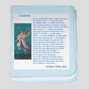 Poe Poem Alone baby blanket