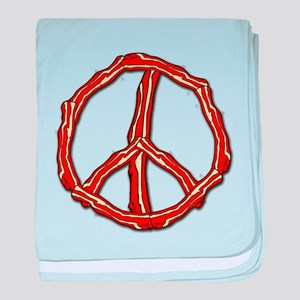 Bacon Peace Sign baby blanket
