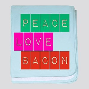 Peace Love and Bacon baby blanket