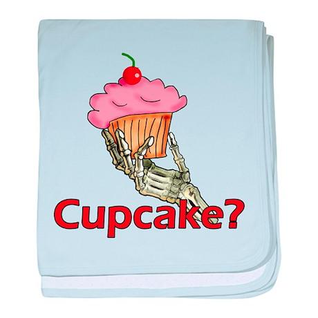 Skeleton Hand Cupcake baby blanket