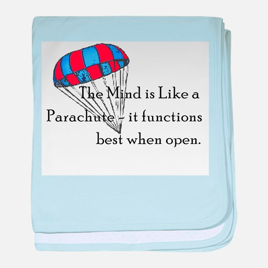 The Mind is like a parachute baby blanket