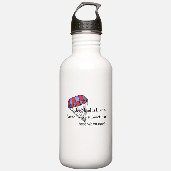 The Mind is like a parachute Water Bottle