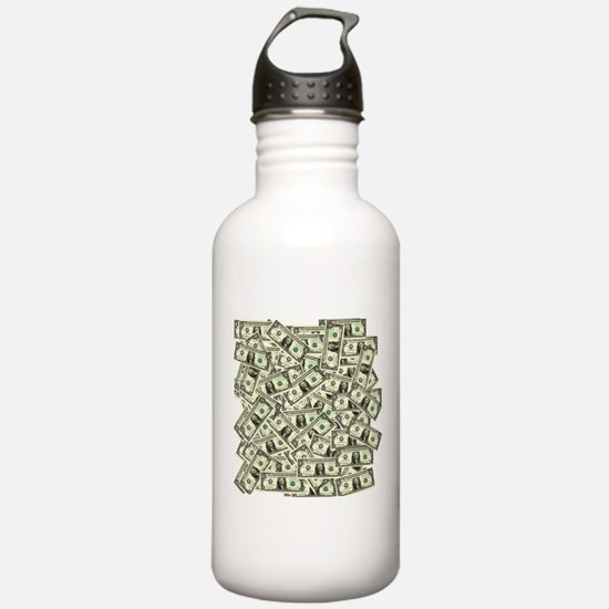 Funny Cash Sports Water Bottle