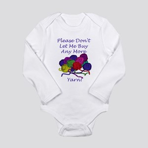 Too Much Yarn! Long Sleeve Infant Bodysuit