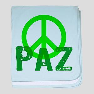 PAZ Peace en Espanol baby blanket