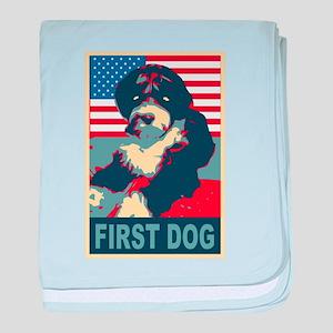 First Dog BO Obama baby blanket