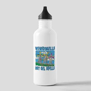Windmills Not Oil Spills Stainless Water Bottle 1.