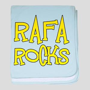 Rafa Rocks Tennis Design baby blanket