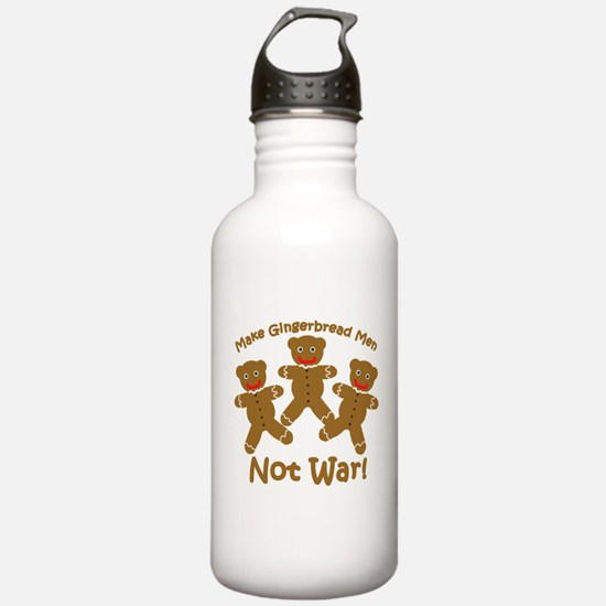Gingerbread Men Not War Water Bottle