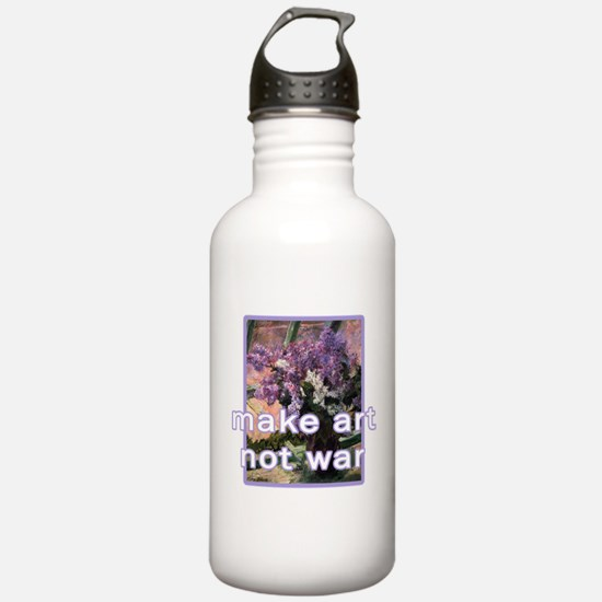 Make Art Not War Water Bottle