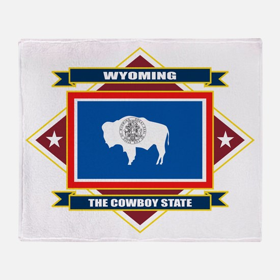 Wyoming Flag Throw Blanket