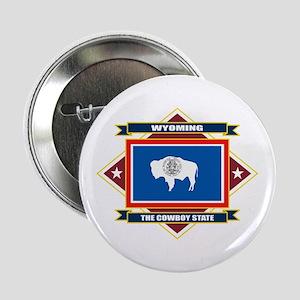 """Wyoming Flag 2.25"""" Button"""
