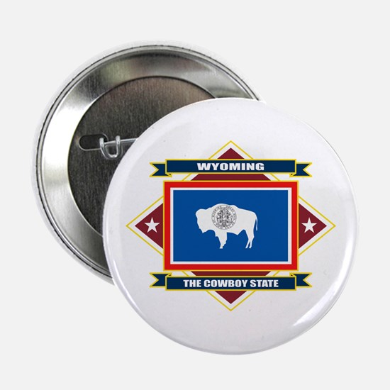 "Wyoming Flag 2.25"" Button"