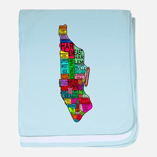 NYC Color Coded Map baby blanket