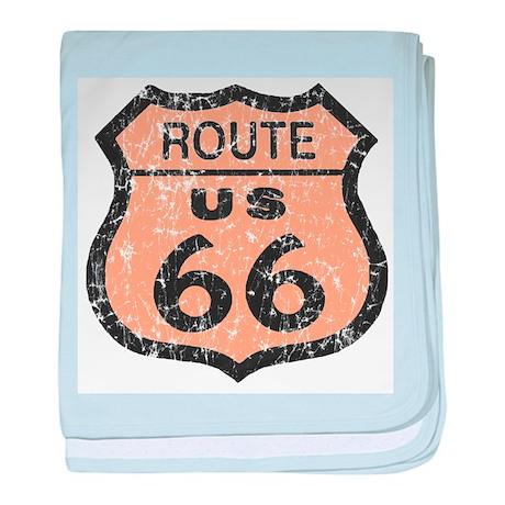 Vintage Look Route 66 Road Si baby blanket