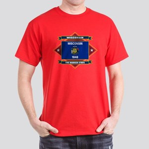 Wisconsin Flag Dark T-Shirt