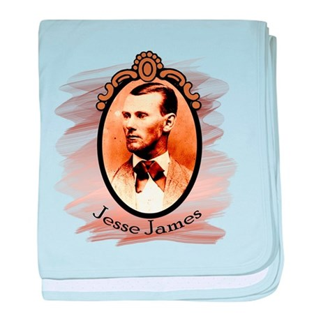 Jesse James Portrait baby blanket