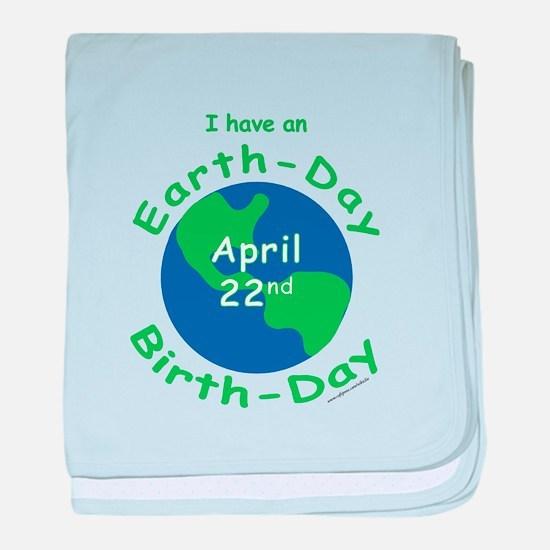 Earth Day Birthday baby blanket