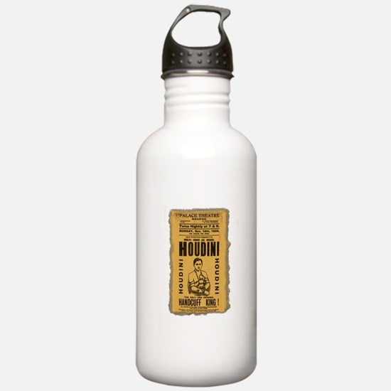 Vintage Houdini Poster Water Bottle
