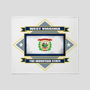 West Virginia Flag Throw Blanket