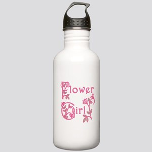 Pretty Floral Flower Girl Stainless Water Bottle 1