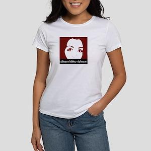 Silence Hides Violence Women's T-Shirt