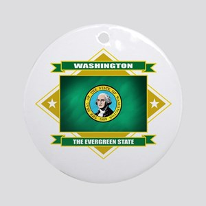 Washington Flag Ornament (Round)