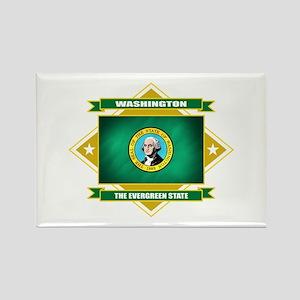 Washington Flag Rectangle Magnet