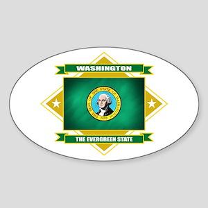 Washington Flag Sticker (Oval)