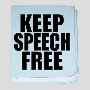 Keep Speech Free baby blanket