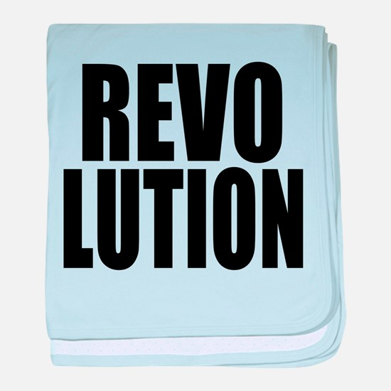 One Word Revolution baby blanket