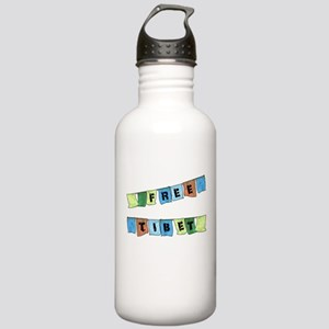 Free Tibet Prayer Flags Stainless Water Bottle 1.0
