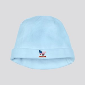 Flag Butterfly Freedom baby hat