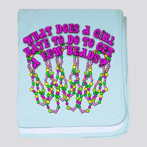 Sexy Mardi Gras baby blanket
