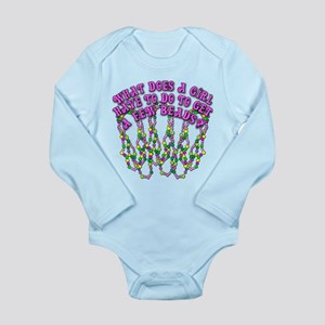 Sexy Mardi Gras Long Sleeve Infant Bodysuit