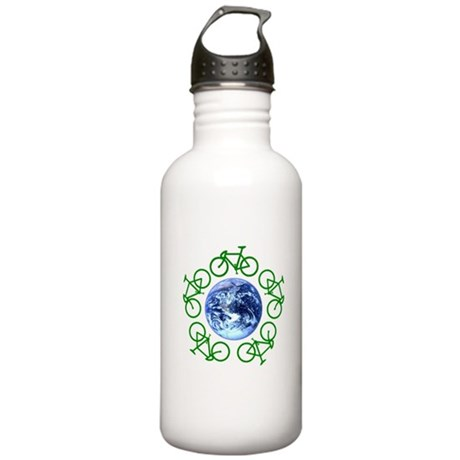 Bicycles Around the Globe Stainless Water Bottle 1