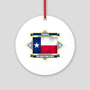 Texas Flag Ornament (Round)