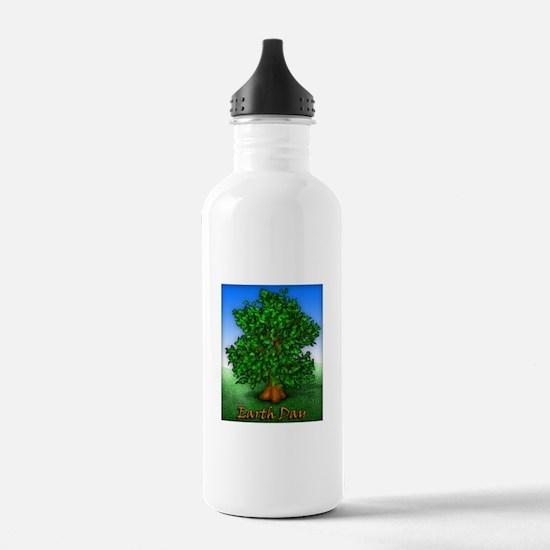 Earth Day Tree Water Bottle