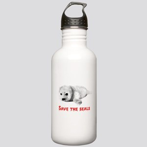 Save the Baby Harp Seals Stainless Water Bottle 1.