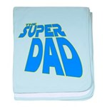 The Super Dad baby blanket