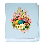 Springtime Easter Basket baby blanket