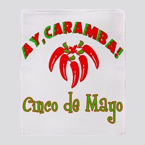Ay Caramba Cinco de Mayo Throw Blanket
