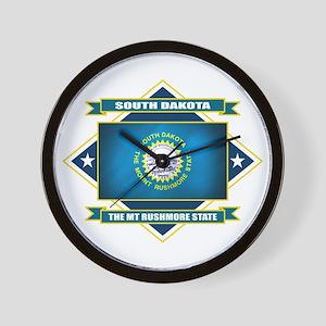 South Dakota Flag Wall Clock