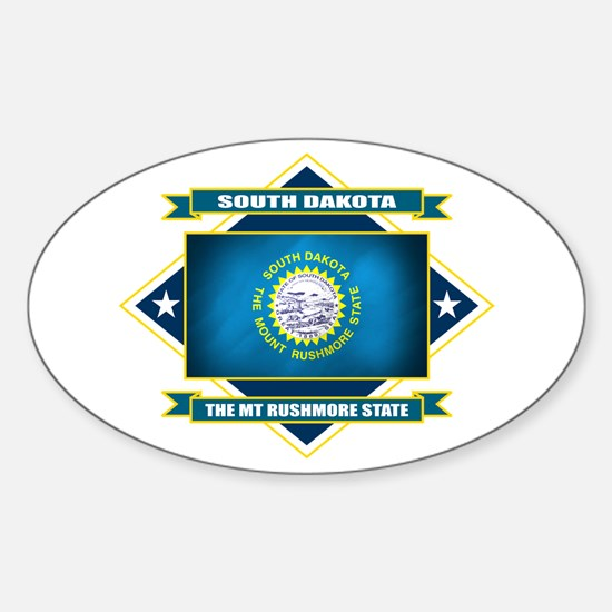 South Dakota Flag Sticker (Oval)