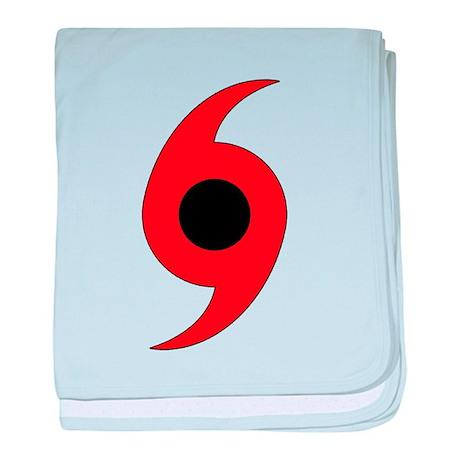 Hurricane Symbol baby blanket