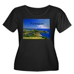 Antigua Women's Plus Size Scoop Neck Dark T-Shirt