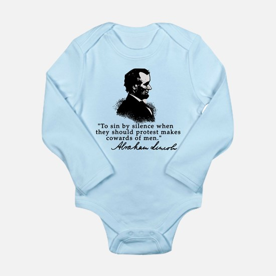 Lincoln to Sin by Silence Long Sleeve Infant Bodys