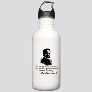 Lincoln to Sin by Silence Stainless Water Bottle 1