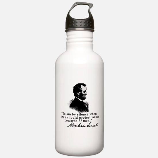 Lincoln to Sin by Silence Water Bottle